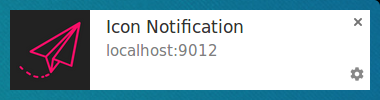 Notification with ccon on Chrome on Linux.