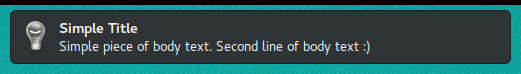 Notification with title and body text on Firefox on Linux.
