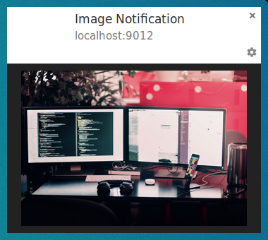 Notification with Image on Chrome on Linux.